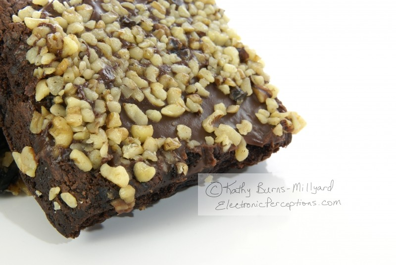 chopped Stock Photo: Chocolate Nut Brownie