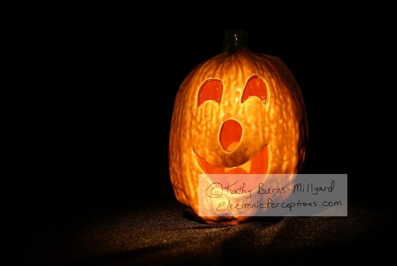 Stock Photo: Spooky Jack O Lantern - by Kathy Burns-Millyard