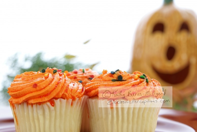 Stock Photo: Halloween Cupcakes - by Kathy Burns-Millyard