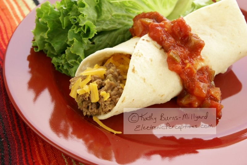 cheese Stock Photo: Mexican Burrito