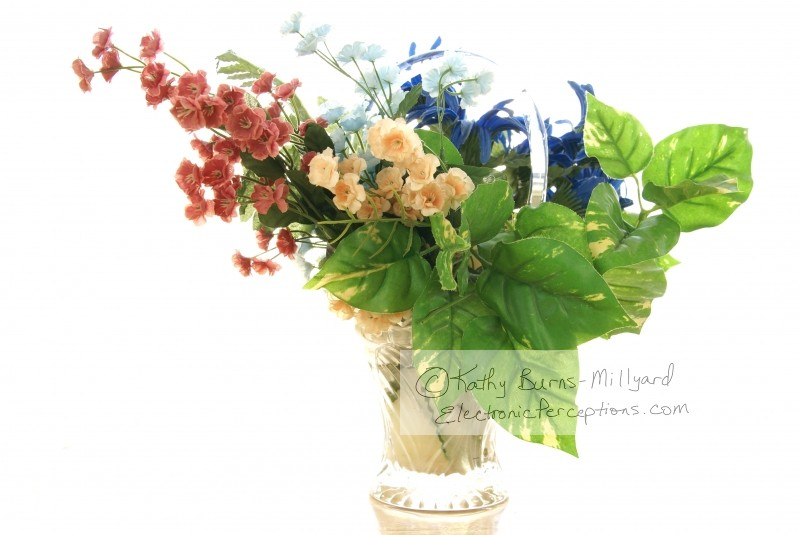 Stock Photo: Silk Flower Arrangement - by Kathy Burns-Millyard