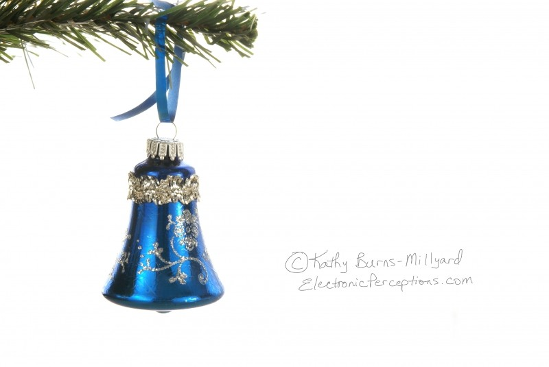 bell Stock Photo: Blue Christmas Ornament