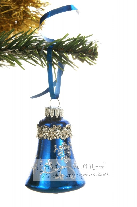Stock Photo: Christmas Bell Ornament - by Kathy Burns-Millyard