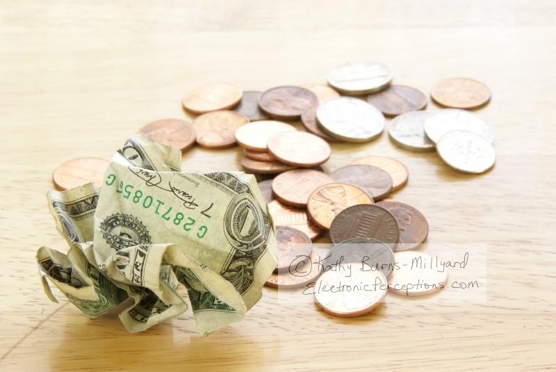 bill Stock Photo: Cash Crunch