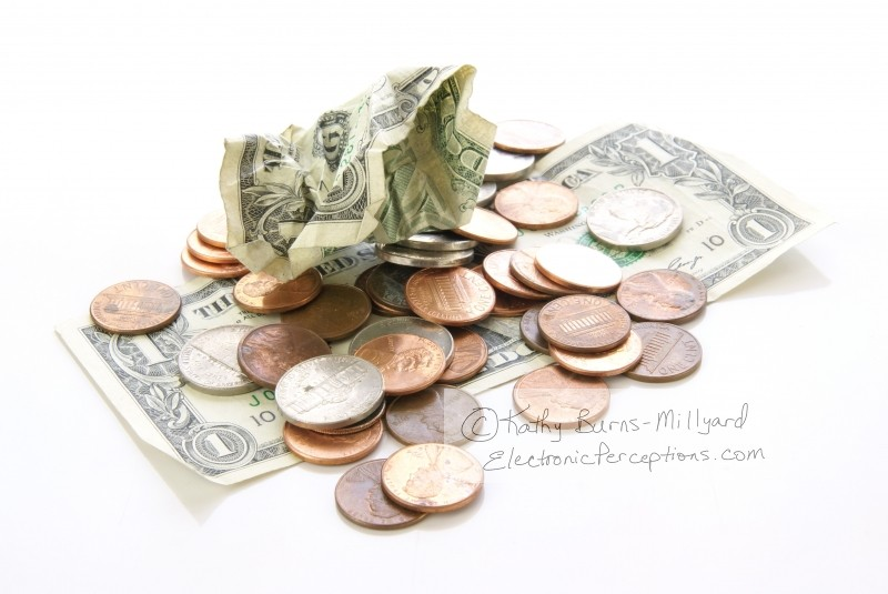 Stock Photo: Money Problems - by Kathy Burns-Millyard