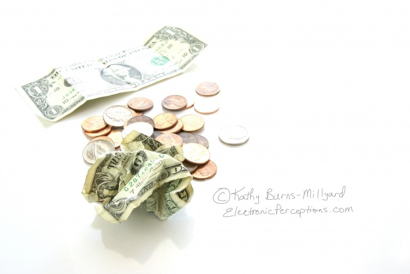 Concepts Stock Photo: Money Problems