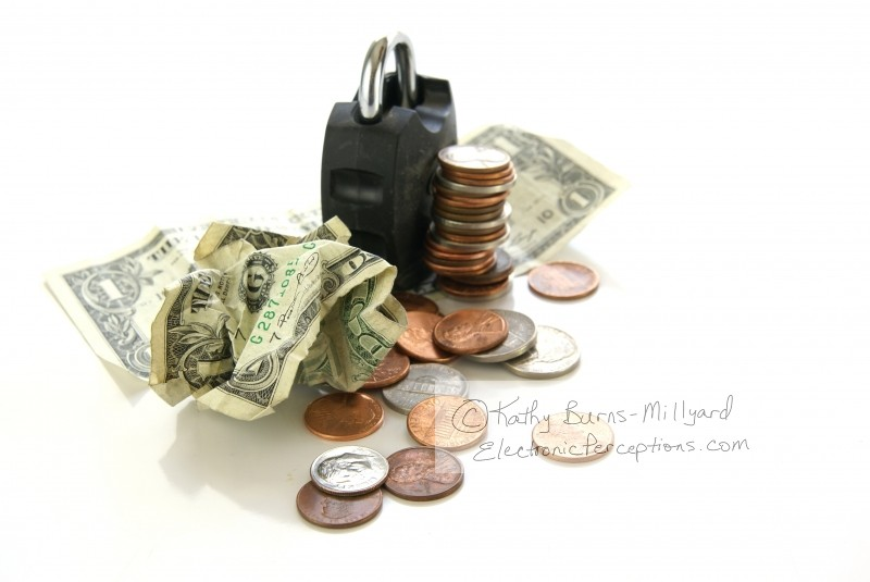 Concepts Stock Photo: Locked Money Concept