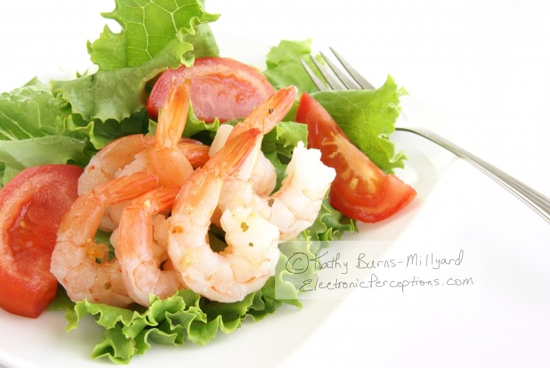 calories Stock Photo: Shrimp Salad