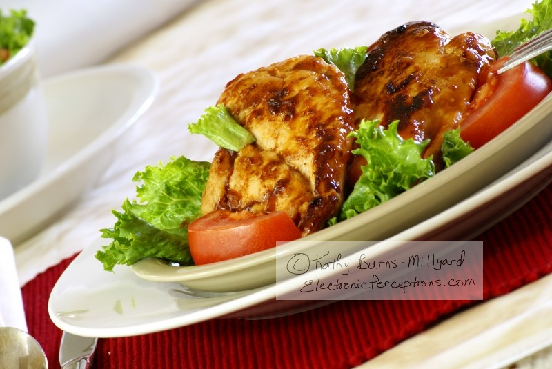 Stock Photo: Barbecue Chicken - by Kathy Burns-Millyard