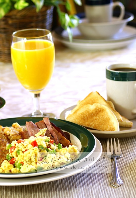 """scrambled eggs"" Stock Photo: Hearty Breakfast"