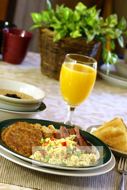 Stock Photo: Hearty Breakfast - by Kathy Burns-Millyard