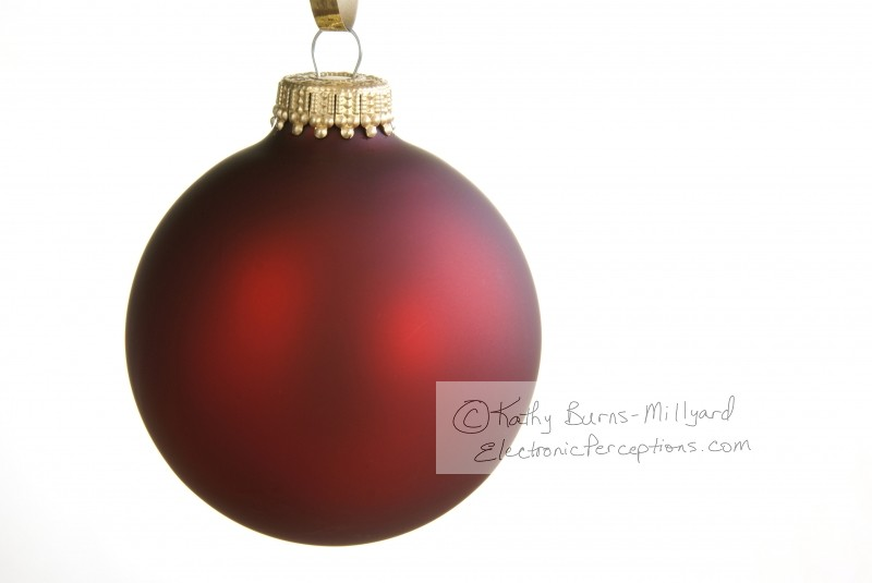 frosted Stock Photo: Red Christmas Ornament