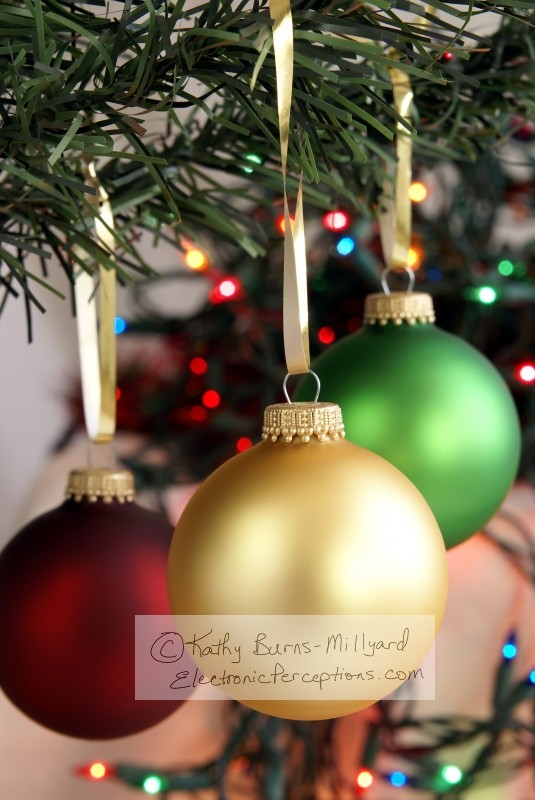 red Stock Photo: Christmas Ornaments