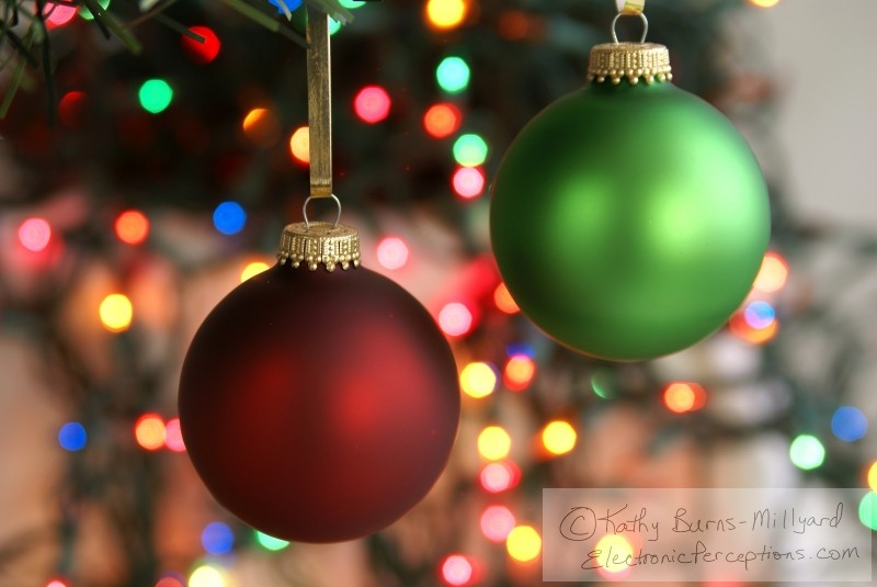 frosted Stock Photo: Christmas Ornaments