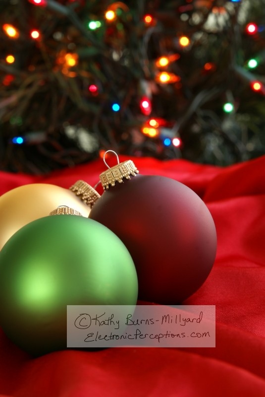 fabric Stock Photo: Christmas Ornaments