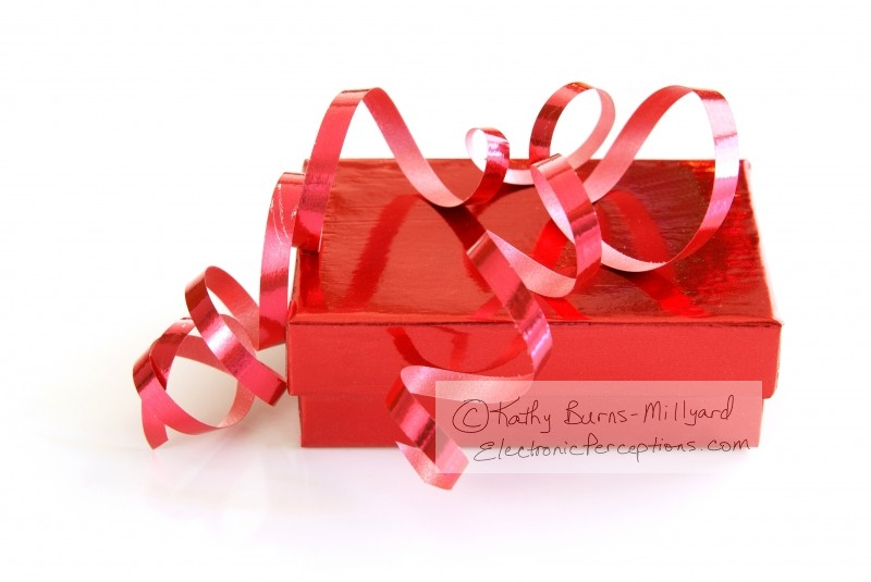 Stock Photo: Red Gift Box - by Kathy Burns-Millyard