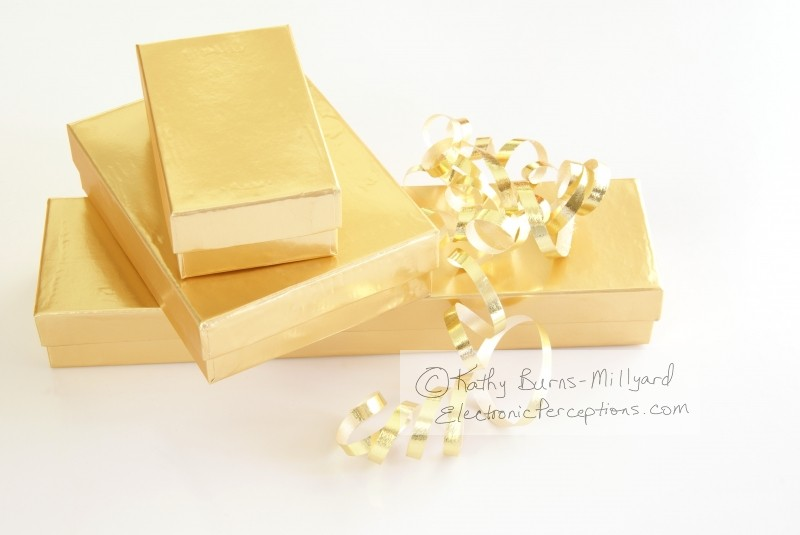 blurred Stock Photo: Gold Gifts