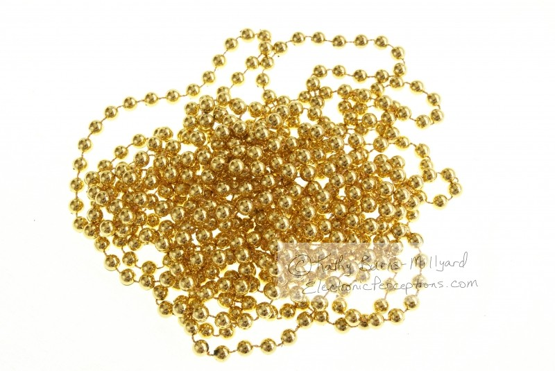 bead Stock Photo: Gold Beads