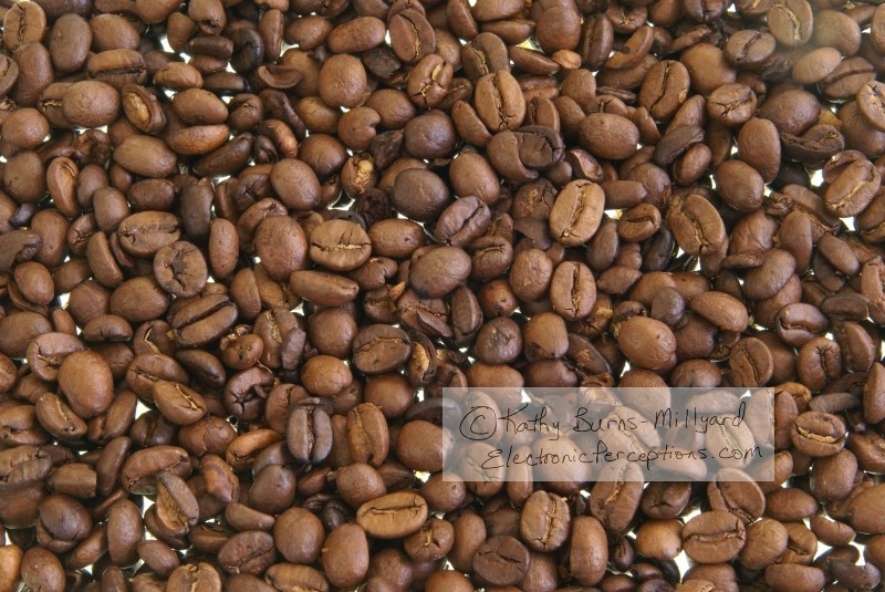 Stock Photo: Coffee Beans Background - by Kathy Burns-Millyard