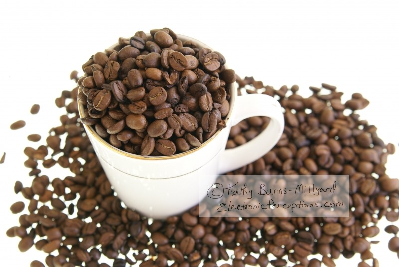 Stock Photo: Coffee Beans in Mug - by Kathy Burns-Millyard