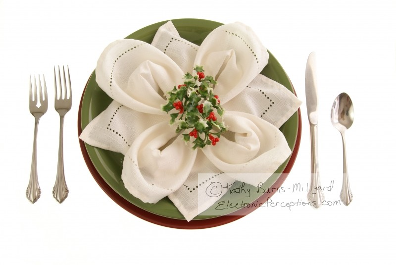 silverware Stock Photo: Holiday Table Setting