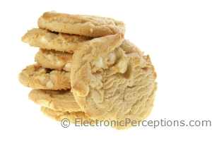 Stock Photo: White Chocolate Cookies - by Kathy Burns-Millyard