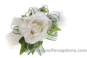 fabric Stock Photo: Fabric Flower Corsage