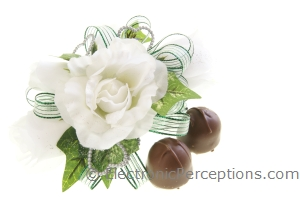 fabric Stock Photo: Corsage and Chocolate