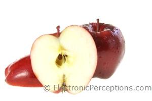 apples Stock Photo: Apple Half