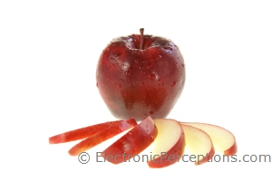 Stock Photo: Apple and Slices - by Kathy Burns-Millyard