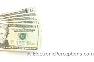 dollars Stock Photo: Fanned Twenties