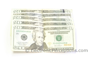 Stock Photo: One Hundred Dollars - by Kathy Burns-Millyard