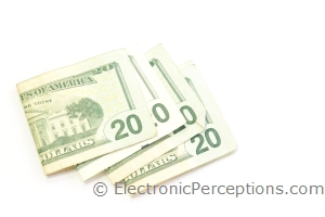 Business & Finance Stock Photo: Scattered Cash