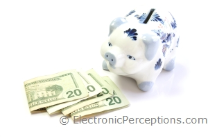 dollars Stock Photo: Piggy Bank Cash