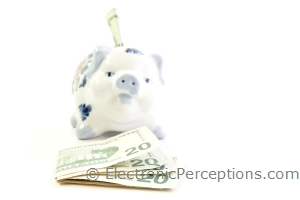 bills Stock Photo: Savings Concept