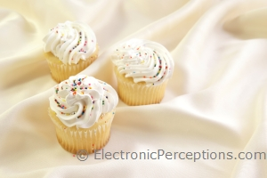 Stock Photo: Festive Cupcakes - by Kathy Burns-Millyard