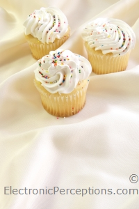Stock Photo: Cupcakes Vertical - by Kathy Burns-Millyard