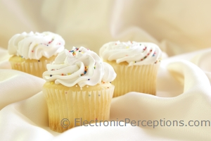 Stock Photo: Cupcakes Close - by Kathy Burns-Millyard