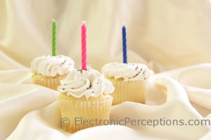 candle Stock Photo: Candle Cupcakes