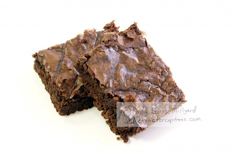 cake Stock Photo: Fudgy Brownies