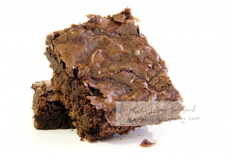 cake Stock Photo: Fresh Brownies