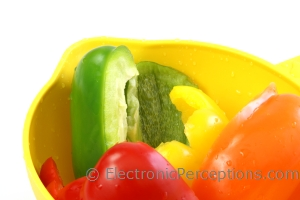 Stock Photo: Bell Pepper Halves - by Kathy Burns-Millyard