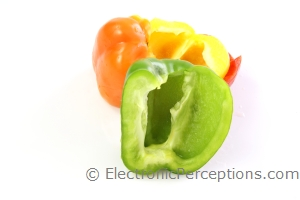 bell pepper Stock Photo: Green Bell Pepper