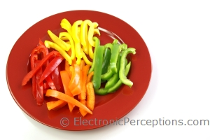 bell pepper Stock Photo: Bell Pepper Strips