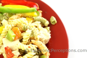 Stock Photo: Pasta Salad Top - by Kathy Burns-Millyard