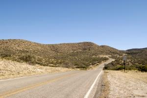 deserted Stock Photo: Winding Desert Road