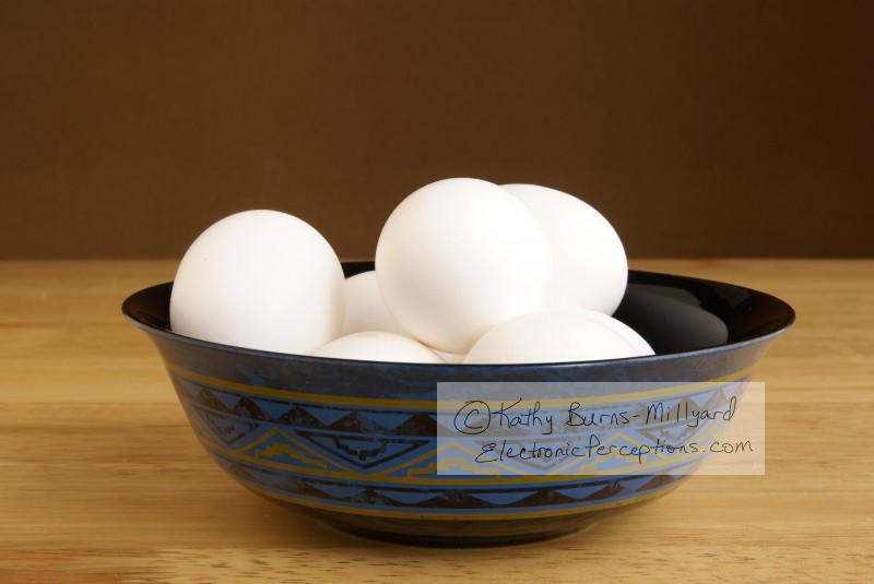 Stock Photo: Bowl of Eggs - by Kathy Burns-Millyard