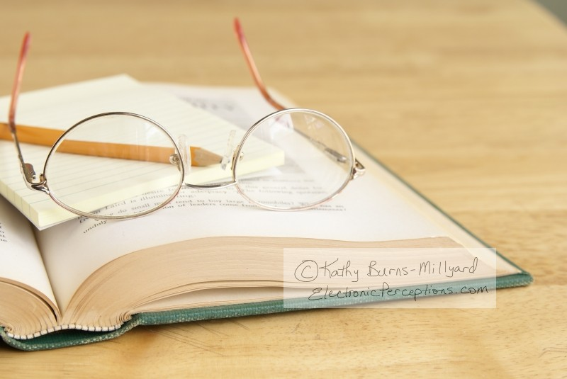 glasses Stock Photo: Glasses On A Book