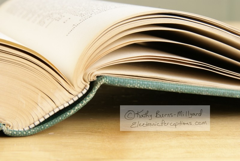 Stock Photo: Open Book Pages - by Kathy Burns-Millyard