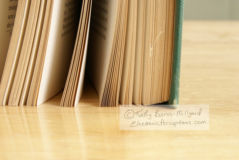 Still Life Stock Photo: Old Book Pages